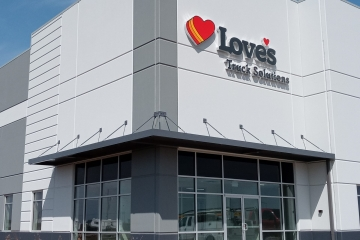 Love's Distribution Center Architectural Hanger Rod Canopy